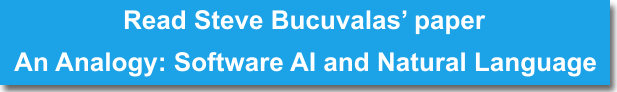 read steve bucuvalas's paper an analogy: software ai & natural language